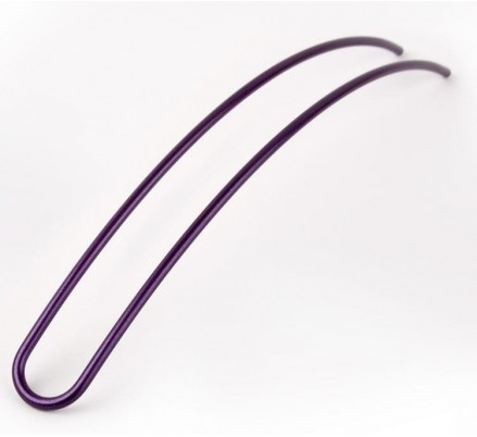hair pin iridescent purple 17 cm